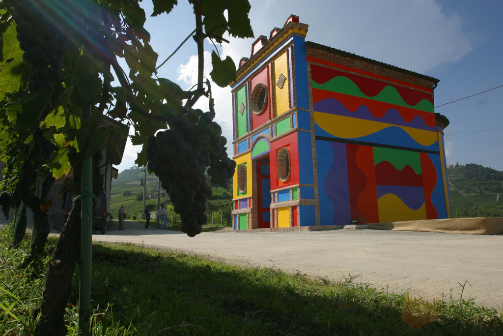 a church painted by David-Tremlett & Sol-LeWitt