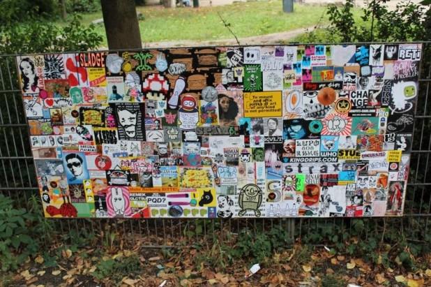Stickercombo Späm - gesehen in Ottensen am 15.09.2012